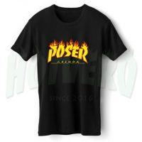 Poser Grenda T Shirt Thrasher Flame Inspired