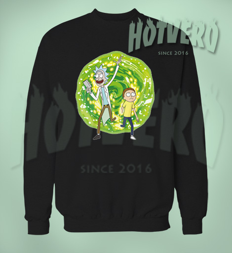 Rick Morty Portal Sweatshirt Urban Clothing
