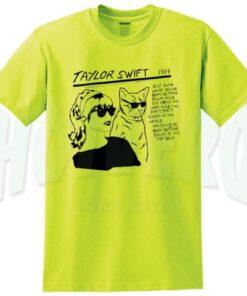 Taylor Swift Sonic Youth Parody T Shirt yellow