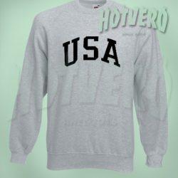 USA Team Crew Neck Sweatshirt Urban Streetwear