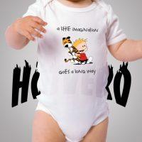 Calvin Hobbes Little Imagination Cute Baby Onesie