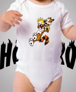 Calvin Hobbes Shock Cute Baby Onesie