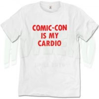 Comic Con Is My Cardio Vintage Slogan T Shirt