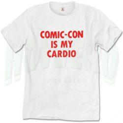 Comic Con Is My Cardio Vintage Slogan T Shirt