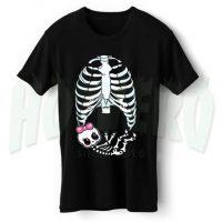 Cute Skeleton Babygirl Maternity Halloween T Shirt
