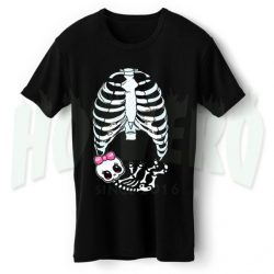 Cute Skeleton Babygirl Maternity Halloween T Shirt