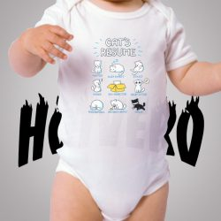 Funny Cat Resume Cute Baby Onesie