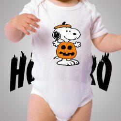 Funny Snoopy Pumpkin Baby Onesies