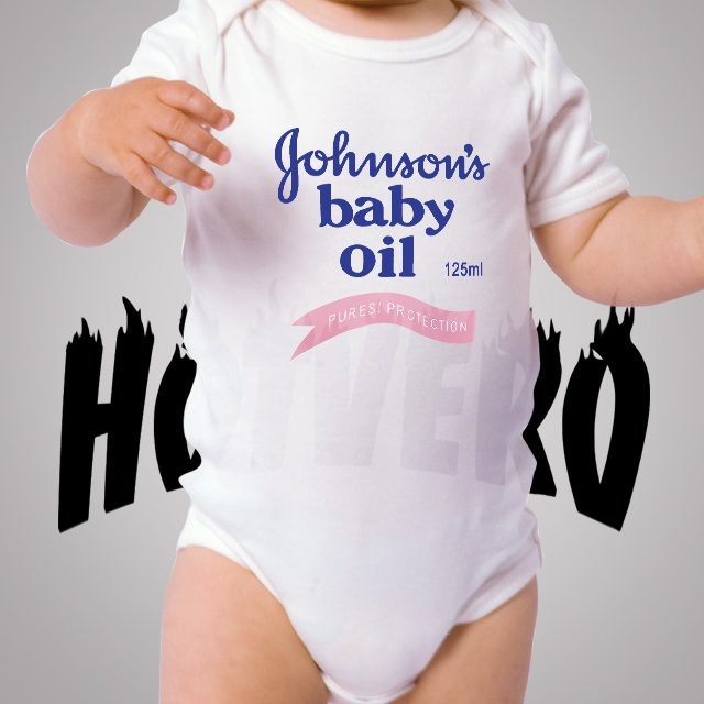 Johnsons Baby Oil Pures Protection Cute Baby Onesie