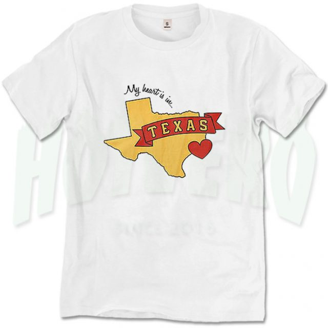 My Heart In Texas Hurricane Harvey T Shirt