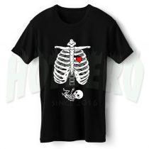 Skeleton Baby Boy Maternity Halloween T Shirt
