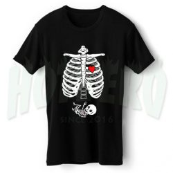 Skeleton Baby Boy Maternity Halloween T Shirt