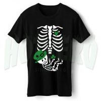 Skeleton Baby Irish Maternity Halloween T Shirt