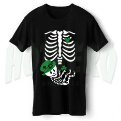 Skeleton Baby Irish Maternity Halloween T Shirt