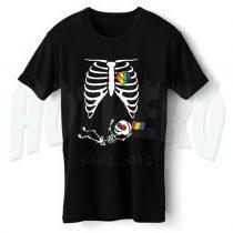 Skeleton LGBT Baby Maternity Halloween T Shirt
