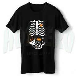 Skelly Baby with Witch Hat Maternity Halloween T Shirt