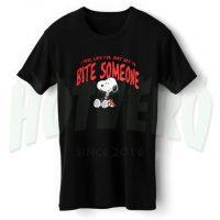 Snoopy Bite Someon Halloween T Shirt