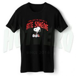 Snoopy Bite Someon Halloween T Shirt