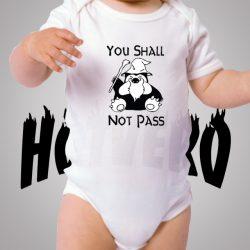 Pokemon Snorlax Shall Not Pass Baby Onesie