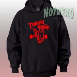 Thrash And Burn Thrasher Skategoat Custom Hoodie