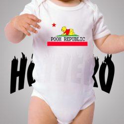 Winnie Pooh California Republic Cute Baby Onesies