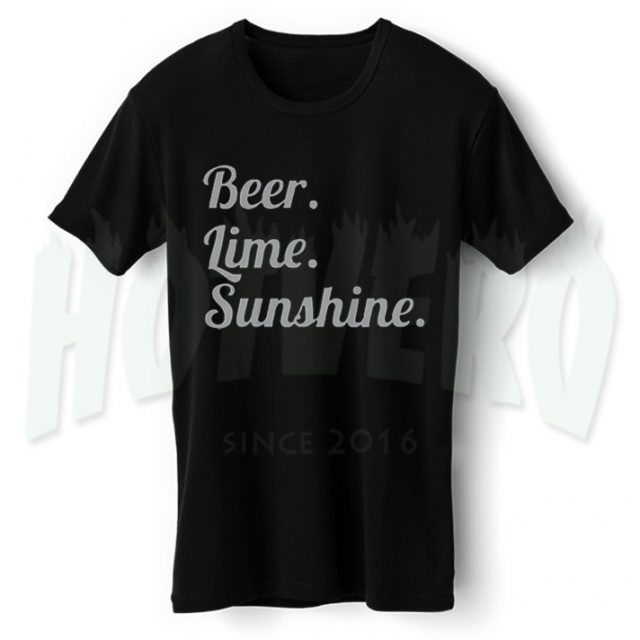 Cheap Beer Lime Sunshine Graphic T Shirt