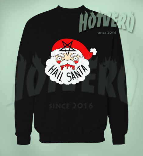 Satanic Christmas Sweater.Hail Santa Satanic Christmas Ugly Sweater