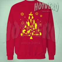 Harry Potter Spell Christmas Tree Ugly Sweater