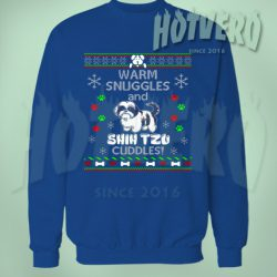 Shih Tzu Cuddles Ugly Christmas Sweater
