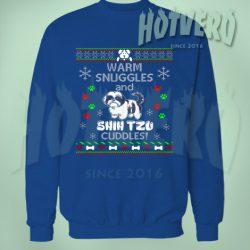 Shih Tzu Cuddles Ugly Christmas Sweater