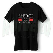 Cheap Merci Mon Cheri T Shirt Vintage Style