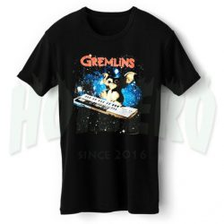 Cute Gremlins Playing Keyboard Space T Shirt