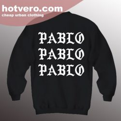 Cheap I Feel Like Pablo Unisex Black Sweatshirt