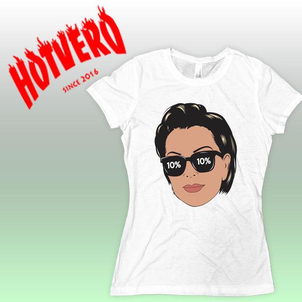 Kris Jenner face T Shirt Kim Kardashian Outfit