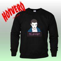 Eleven Stranger Things Bleeding Nose Black Sweatshirt
