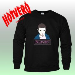 Eleven Stranger Things Bleeding Nose Black Sweatshirt
