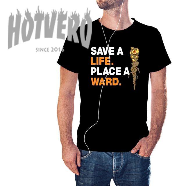 Save A Life Place A Ward Dota Gaming T Shirt