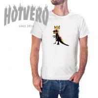 Basquiat Dinosaurs Crown Hip Hop T Shirt