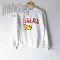 Cheap Black Lives Matter Slogan Sweatshirt