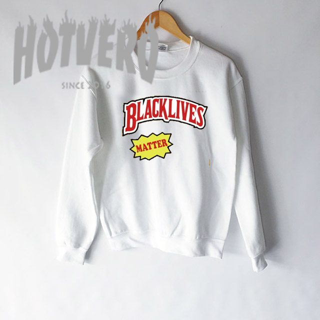 Cheap Black Lives Matter Slogan Sweatshirt