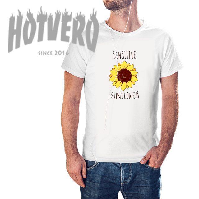 Cheap Sensitive Sunflower Summer T Shirt