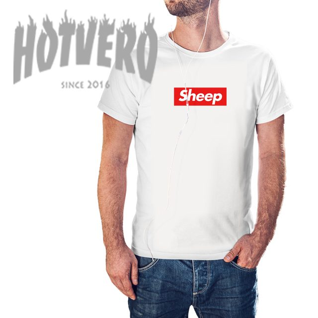 Cheap Supreme Sheep Box Logo T Shirt