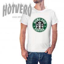 Guns And Coffee Starbucks Inspired T Shirt
