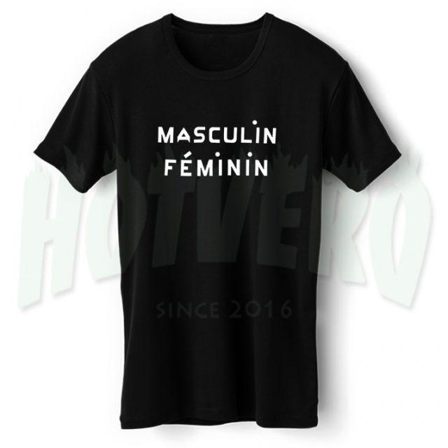 Masculin Feminin Cute T Shirt For Girl