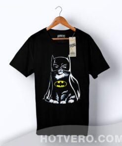 Bat Cat Batman Funny Parody T Shirt