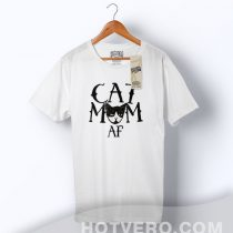 Cheap Cat Mom AF Family T Shirt