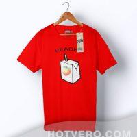 Cheap Peachy Juice Box Graphic T Shirt