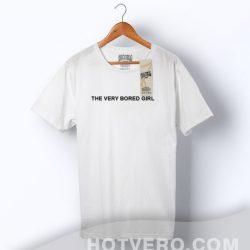 Cheap The Very Bored Girl Slogan T Shirt