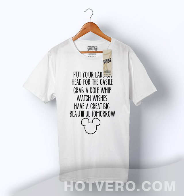 Mickey Mouse Great Big Beautiful Tomorrow Slogan T Shirt