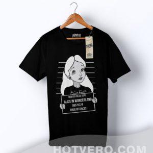 Cheap Alice Wonderland Mugshot Parody T Shirt